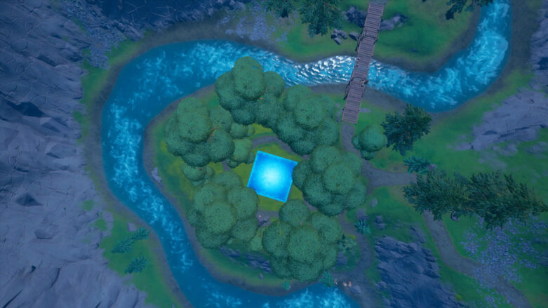 Aerial view of Friendly Forest in Fortnite