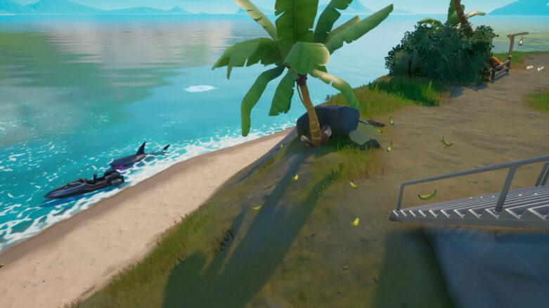 Fortnite Sharky Shell banana spawn location
