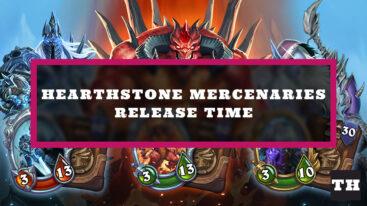 Hearthstone Mercenaries Release Time Countdown Timer